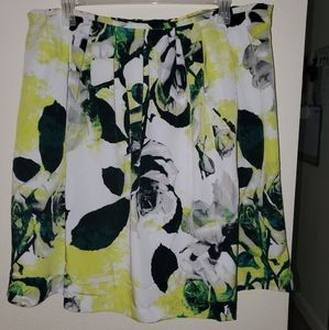 Floral pleated skirt 20w